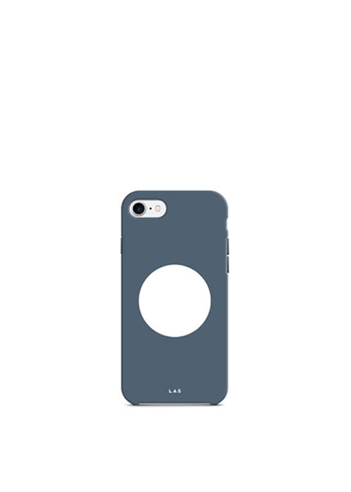Bauhaus Circle Hard Case [White Blue]